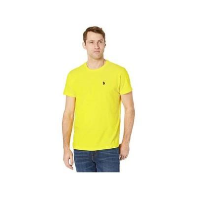 U.S. POLO ASSN. Crew Neck Small Pony T-Shirt メンズ シャツ トップス Sailing Yellow