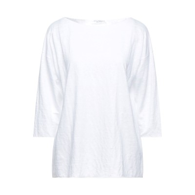 AMINA RUBINACCI T シャツ ホワイト 46 リネン 100% T シャツ