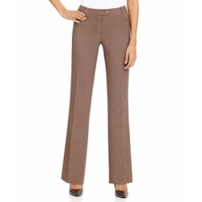 カルバンクライン レディース カジュアルパンツ ボトムス Petite Classic Trouser Leg Pants with Slightly Flared Hem Heather Taupe