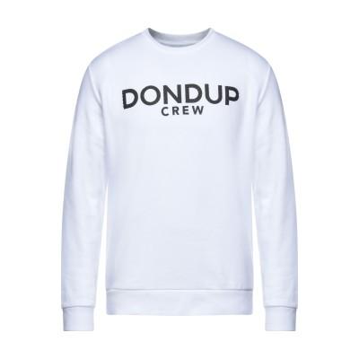 ドンダップ DONDUP スウェットシャツ ホワイト L コットン 100% / ポリウレタン スウェットシャツ