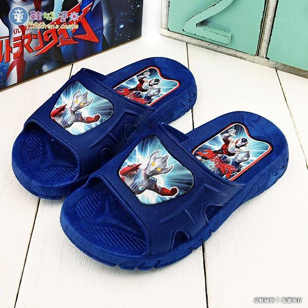 童鞋城堡-大河 室內拖 戶外拖鞋 超人力霸王 UM0284 藍