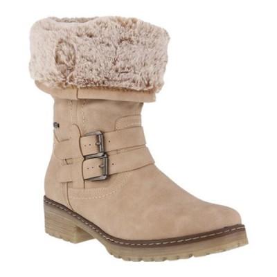 スプリングステップ ブーツ&レインブーツ シューズ レディース Comatulla Mid Calf Boot (Women's) Beige Vegan Synthetic