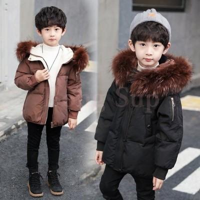 子供服コート 男の子 中綿コート フード付き 韓国子供 防寒 ジャケット アウター ファー 暖かい かわいい キッズコート 綿入れコート