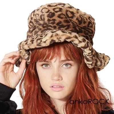 ankoROCK アンコロック 帽子 メンズ ハット レディース シルクハット ユニセックス 大きいサイズ 雑貨 おしゃれ ショートファー ヒョウ柄