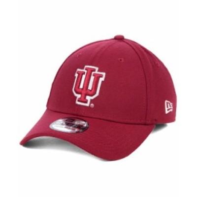 ニューエラ メンズ 帽子 アクセサリー Indiana Hoosiers College Classic 39THIRTY Cap Crimson