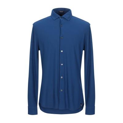 ドルモア DRUMOHR シャツ ブライトブルー S 100% コットン シャツ