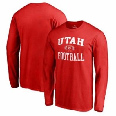 Fanatics Branded ファナティクス ブランド スポーツ用品  Fanatics Branded Utah Utes Red Neutral Zone Long Sleeve