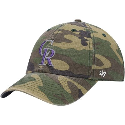 """メンズ キャップ """"Colorado Rockies"""" '47 Team Clean Up Adjustable Hat - Camo"""
