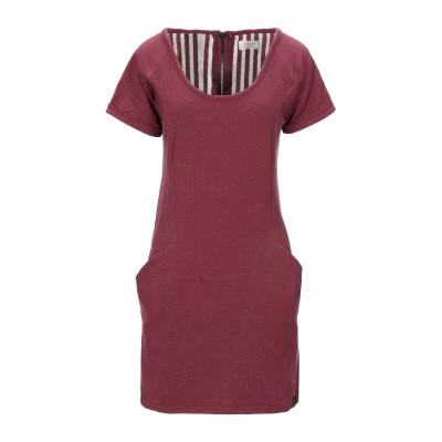 NÜMPH ミニワンピース&ドレス ボルドー S コットン 65% / ポリエステル 30% / ポリウレタン 5% ミニワンピース&ドレス
