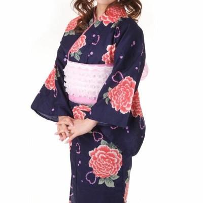浴衣 JUN AMI MISAKO 単品 綿 紺