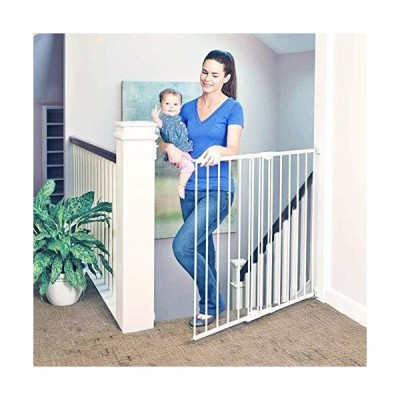 North States Supergate Tall Easy Swing and Lock Gate, Linen by North States Industries [並行輸入品]【並行輸入品】