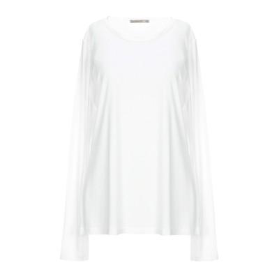 パトリツィア ペペ PATRIZIA PEPE T シャツ ホワイト 3 ポリエステル 50% / レーヨン 50% T シャツ