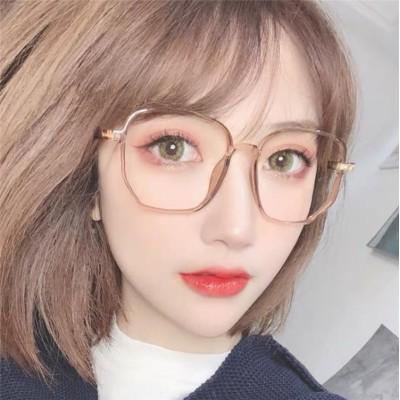 数量限定 韓国ファッション メガネ近視 レディース  スヤン眼鏡フレーム ネット赤平光の鏡  メンズ韓国風  大きなフレームのメガネ(箱や布を送る)