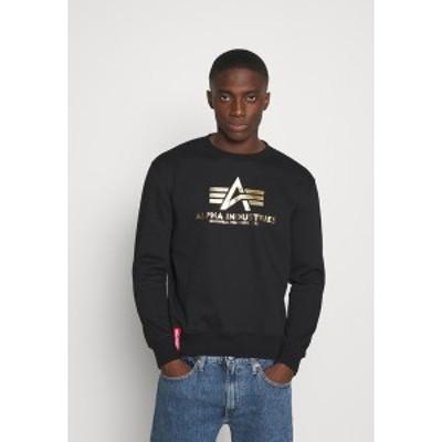 アルファインダストリーズ メンズ パーカー・スウェットシャツ アウター BASIC - Sweatshirt - black/yellow gold black/yellow gold