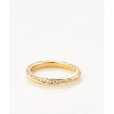 ISOLATION / large mobius strip ring with diamonds WOMEN アクセサリー > リング