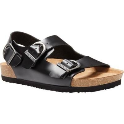 イーストランド Eastland レディース サンダル・ミュール シューズ・靴 Charlestown Double Strap Sling Sandal Black Leather