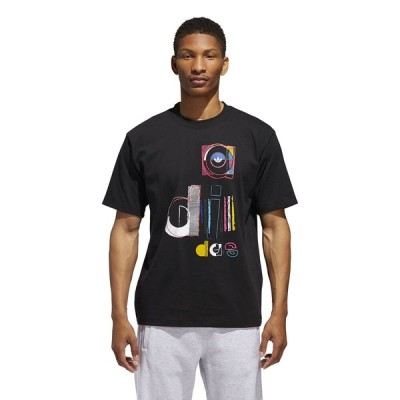 【即納】アディダス Adidas Originals メンズ Tシャツ トップス Split T-Shirt Black
