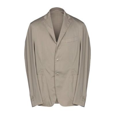 DOMENICO TAGLIENTE テーラードジャケット カーキ 50 コットン 98% / ポリウレタン 2% テーラードジャケット