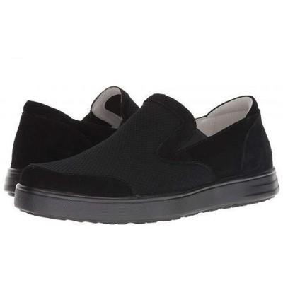 Alegria アレグリア メンズ 男性用 シューズ 靴 スニーカー 運動靴 Bender - Black Suede