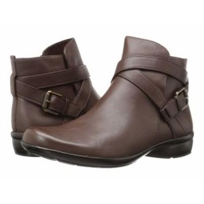 Naturalizer ナチュラライザー レディース 女性用 シューズ 靴 ブーツ アンクル ショートブーツ Cassandra Brown Leather【送料無料】