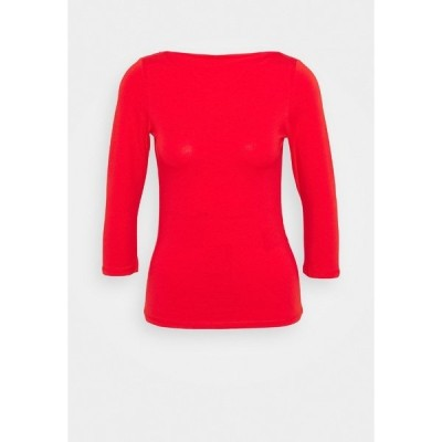 オンリー プティ カットソー レディース トップス ONLLIVE LOVE BOATNECK - Long sleeved top - high risk red
