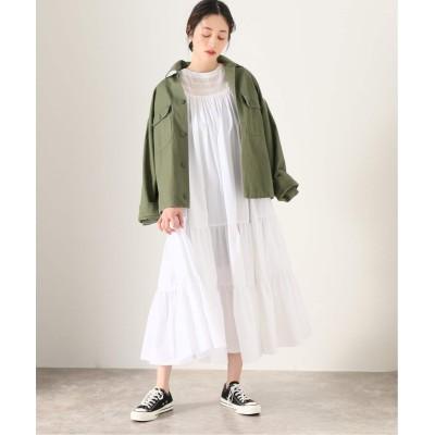 レディース ジャーナルスタンダード レサージュ 【Uhr/ウーア】 Lace Neck Tiered Dress:ワンピース ホワイト フリー