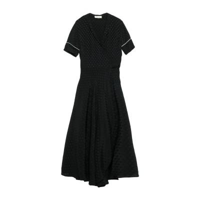 GOLD CASE ロングワンピース&ドレス ブラック 44 アセテート 70% / シルク 30% ロングワンピース&ドレス