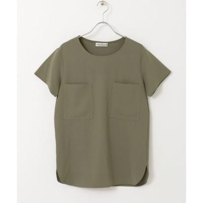 tシャツ Tシャツ WポケットTOP∴