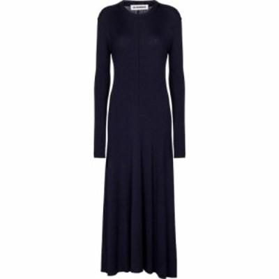 ジル サンダー Jil Sander レディース ワンピース ワンピース・ドレス Merino wool-blend midi dress Dark Blue