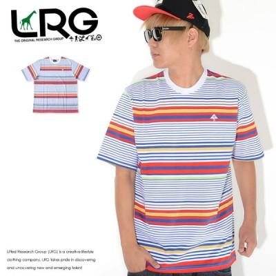 LRG エルアールジー Tシャツ 半袖 マルチボーダー 胸ワンポイント ツリーロゴ刺繍 (E201005)