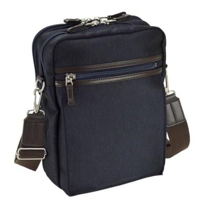 縦型 ショルダーバッグ メンズ ブランド 斜め掛け 日本製 豊岡製 豊岡鞄 19cm カジュアル 男女兼用 メンズ 男性 紳士 紺 ネイビー