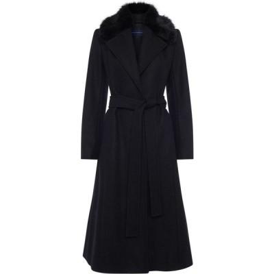 フレンチコネクション French Connection レディース コート アウター Amalia Faux Fur Detachable Collar Coat Black