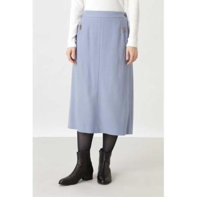 HUMAN WOMAN/ヒューマンウーマン サニームビングボタニースカート ブルー M