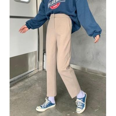 VIBGYOR / 【URGE:】センタープレス ハイウエストパンツ WOMEN パンツ > チノパンツ
