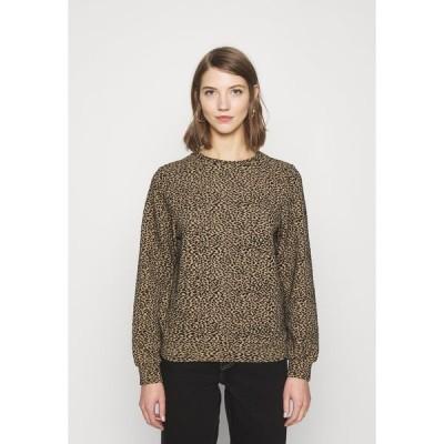 オンリー パーカー・スウェットシャツ レディース アウター ONLSOFIA LEO - Sweatshirt - black/animal dark brown