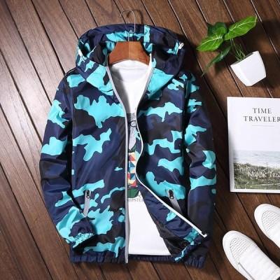 ジャケット ブルゾン コート 新品 上着 アウトド メンズ 大人気 長袖 春秋 フード付き ナイロンジャケット WL1024135-3