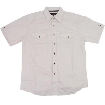 [並行輸入品] KNOCK OUT ノックアウト プレーンタイプ 半袖ボタンシャツ (ナチュラル)