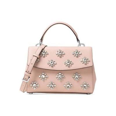 Michael Kors Womens Ava Leather Convertible Satchel Handbag Pink Medium【並行輸入品】