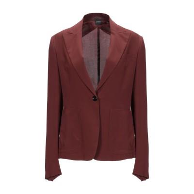 アスペジ ASPESI テーラードジャケット 赤茶色 42 シルク 100% テーラードジャケット