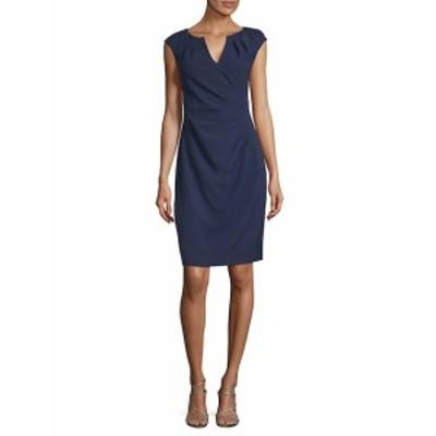 アドリアーナ パペル レディース ワンピース Pleated Faux-Wrap Dress