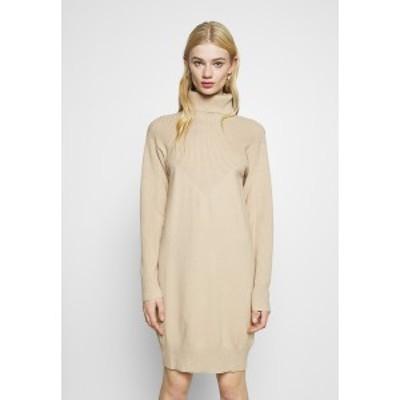 エヌ エー ケイ ディ レディース ワンピース トップス DRESS - Jumper dress - beige beige