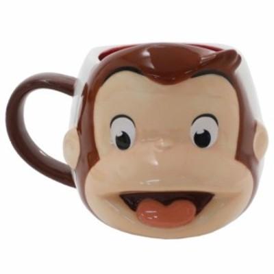 おさるのジョージ マグカップ 磁器製 フェイス マグ 絵本キャラクター グッズ