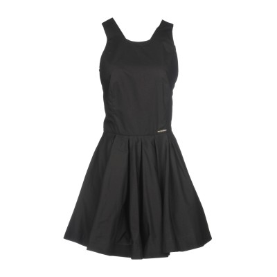 MARIAGRAZIA PANIZZI ミニワンピース&ドレス ブラック 44 100% コットン ミニワンピース&ドレス