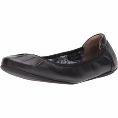 ロックポート スリッポン・フラット Rebecca Pleated Black Leather