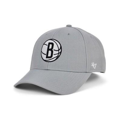 47ブランド 帽子 アクセサリー メンズ Brooklyn Nets Team Color MVP Cap Gray