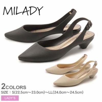 ミレディ パンプス レディース アンクルストラップパンプス ブラック 黒 MILADY ML783 シューズ 靴 モード カジュアル オフィス おしゃれ