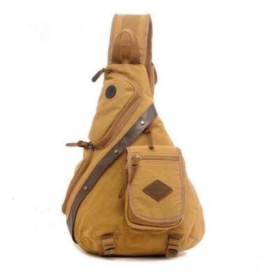 ショルダーバッグメンズ斜めがけバッグボディバッグ多機能アウトドアワンショルダーバッグ帆布キャンバス