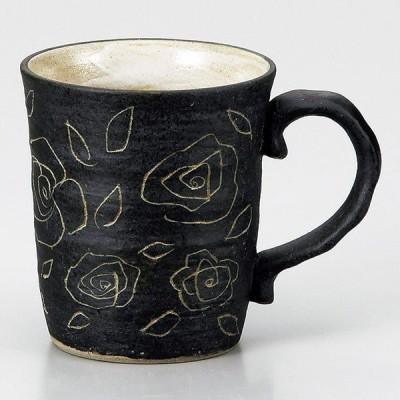 (業務用・マグカップ)バラマグ黒[73418-548](入数:5)