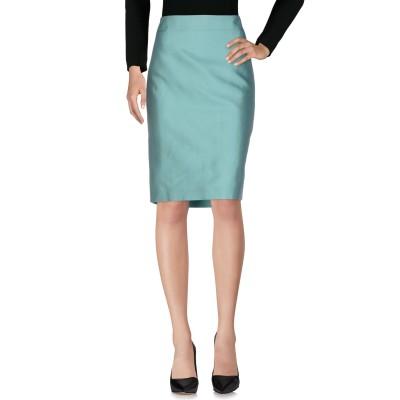 アルマーニ コレッツィオーニ ARMANI COLLEZIONI ひざ丈スカート ライトグリーン 50 シルク 74% / コットン 26% ひざ丈