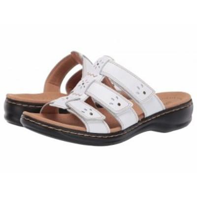 Clarks クラークス レディース 女性用 シューズ 靴 サンダル Leisa Spring White Leather【送料無料】